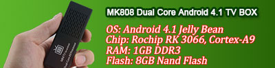 MK808 Dual Core Android 4.1 TV BOX